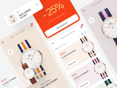 Daniel Wellington – Store concept p.2 app flat typography graphic design website web ux ui minimal design