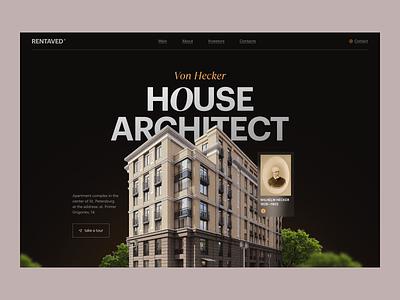 Rentaved - design concept web design website typography figma minimal ux ui