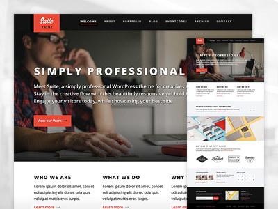 Suite WordPress Theme wordpress theme clean bold typography ui ux responsive minimal