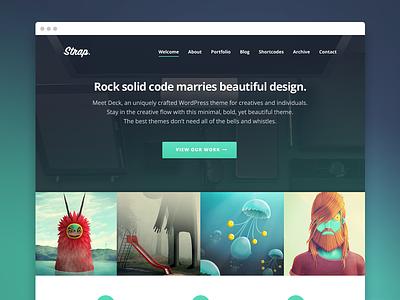 Strap WordPress Theme minimal responsive ux ui typography bold clean theme wordpress