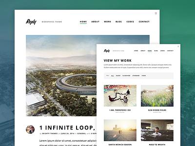 Reply WordPress Theme blog blogging type wordpress theme content typography mighty portfolio clean minimal photography
