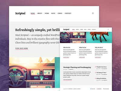 Scripted WordPress Theme wordpress theme clean minimal typography blog portfolio blogging content mighty photography type
