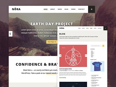 Nora WordPress Theme type photography mighty content blogging portfolio blog typography minimal clean theme wordpress