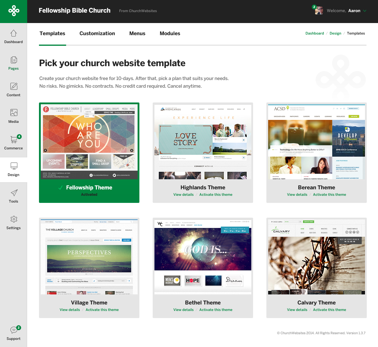 Dribbble - Church-CMS-Dashboard.png by Aaron Lynch