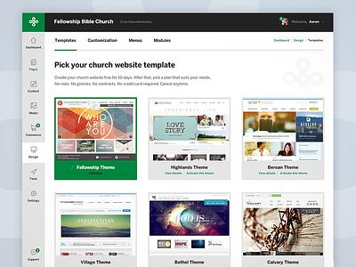 Church CMS Dashboard churches dashboard cms app visual design interface usability design ux ui