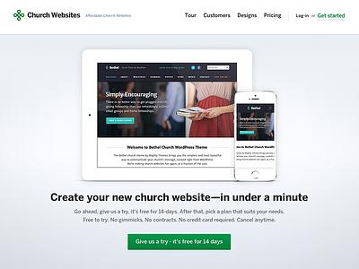 Church CMS Sales Site Homepage ui ux usability interface visual design cms website design churches