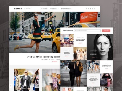 Frock Blog Design Mockup fashion blog design wordpress theme clean bold typography ui ux responsive minimal