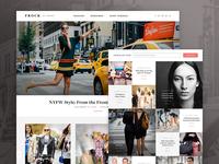 Frock Blog Design Mockup