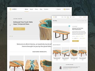 Birch WordPress Theme type photography ecommerce store layerwp mighty blog typography minimal clean theme wordpress