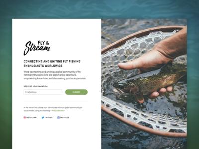 Splash Page – Fly & Stream