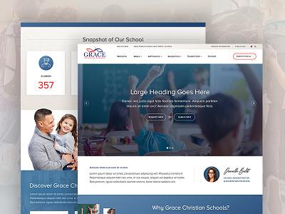 Grace Christian Schools – Website ReDesign wordpress website design academic church school