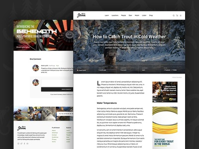 Fly & Stream – Uniting Fly Fishing Enthusiasts branding community typography clean minimal fly fishing fishing