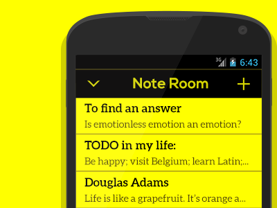 Yellow notes dribbble