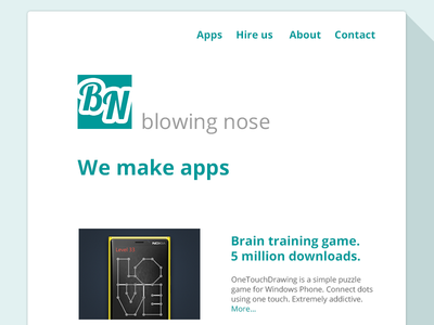 Blowing Nose - New Website