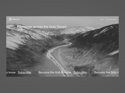 Foundlost—0100 website web ux ui explorer adventure follow subscribe camel outdoor expedition foundlost