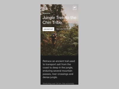 Foundlost—1001 neue haas grotesk figma myanmar ui web outdoors waitlist trial adventure expedition foundlost