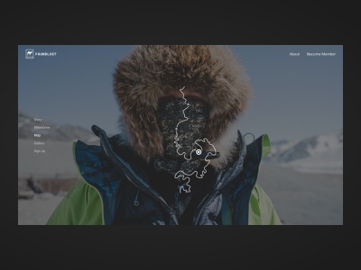 Foundlost—1010 ui interaction web adventure outdoors track route itinerary map expediton foundlost