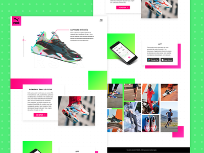 Connected shoes first post firstshot concept landing webdesign new interface student work puma design ui ux basket shoes connected