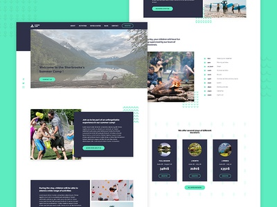 Summer Camp landing page