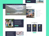 Summer Camp landing page accessibility activities schedule rates ux ui landing webdesign summer camp summer
