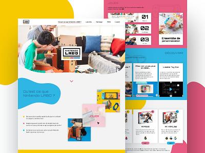 Nintendo Labo color video game play child webdesign design ui ux redesign website nintendo labo nintendo