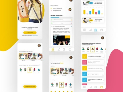 Nintendo Labo App concept children play nintendoswitch child webdesign design ui ux app nintendo nintendo labo