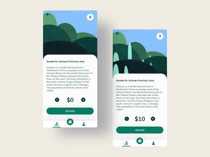 Plant a billion trees - Donation app concept