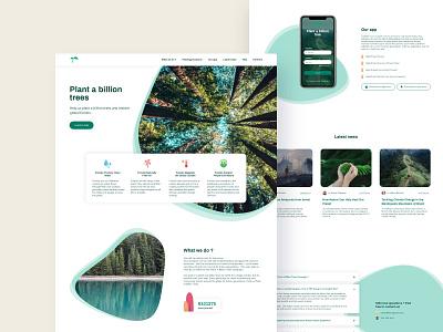Plant a billion trees - desktop version deforestation design ux ui ecology forest plant a billion trees trees planet concept landing accessibility ux design ui design uiux webdesign