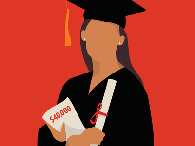 2018 Grad vector artwork illustration