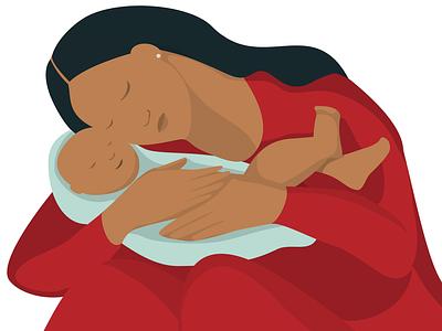 Motherhood vector artwork illustration