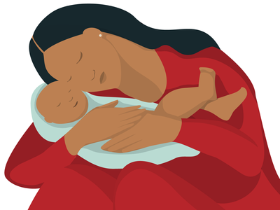 Motherhood vector artwork illustration