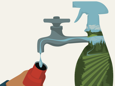 Our Drinking Water vector art illustration