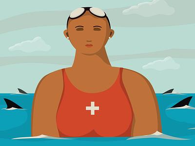 Lifeguard vector artwork illustration