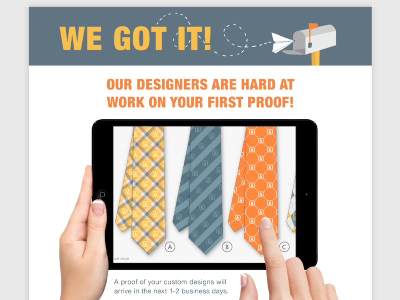 Submission Confirmation Email design illustration branding vector re-brand ties pattern design textile design email banner transactional email email
