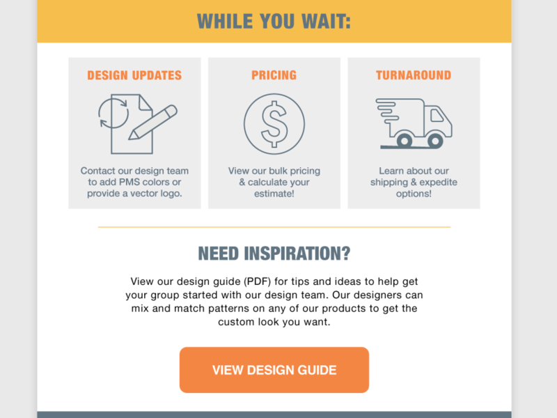 Submission Confirmation Email - FAQ buttons re-branding digital illustration vector re-brand transactional email email