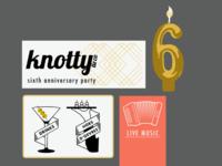 Party invitation progress shot