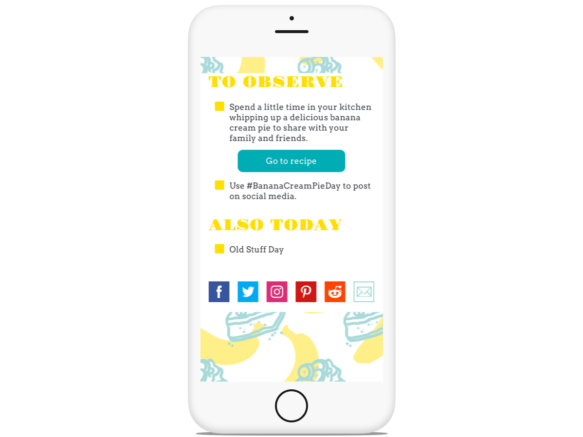 National Day Calendar- Responsive Concept App by Dayna Safferstein