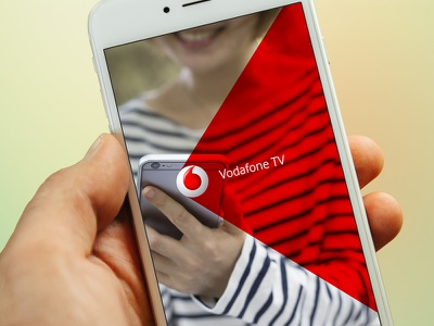 Vodafone TV Mobile App Design design app ui mobile