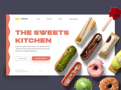 🍩 The Sweets Kitchen - Home Page