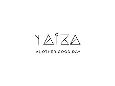 TAIKA outline lineart identity logo