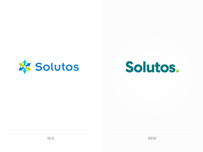 Solutos. Logo re-design and comparison, old – new. keep it simple kiss logotype clean typography simple flat branding design identity comparison redesign logo