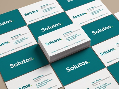 Solutos business cards design design typography paper print design print card design cards business to business businesscard identity branding logo