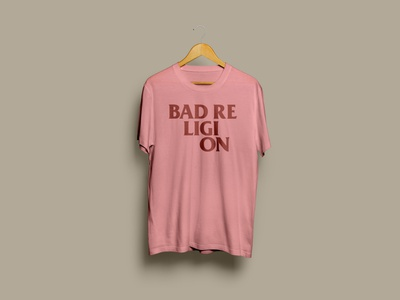 Bad Religion T-shirt graphic design unofficial band t-shirt typography postpunk punk badreligion fanart