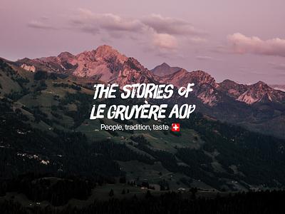 Gruyère Stories campaign logo branding logodesign logo