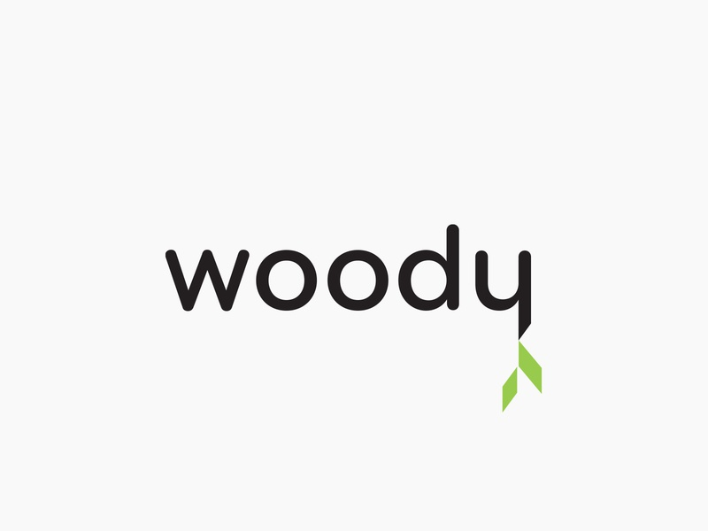 Woody Logo wood carpenter minimal identity branding design logo
