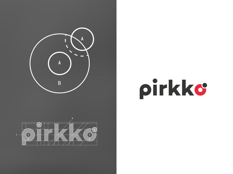 Pirkko° - A Ladybug inspired geometric logo ladybug geometric font geometric typography design identity logo branding