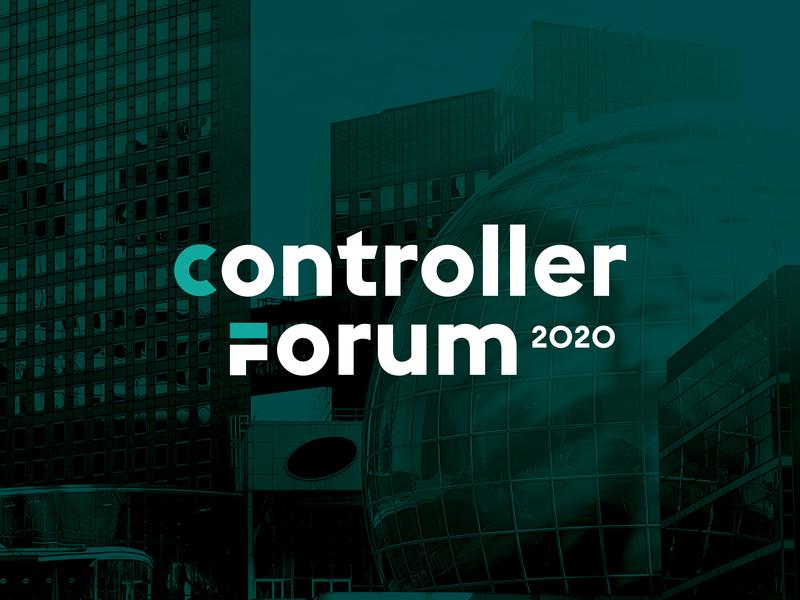 Controller Forum Typographic Logotype business typography clean flat simple logotype vector minimal identity design branding logo