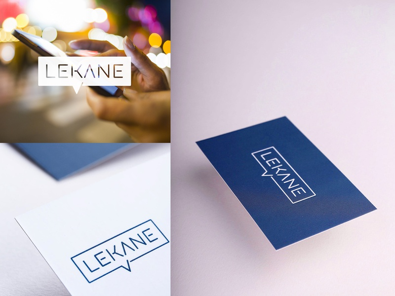 Lekane chatbot chat callout clean simple flat guidelines negative print businesscards branding identity logodesign logos logo