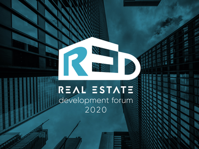 RED - Real Estate Developement Forum flat buildings event real estate architecture logo