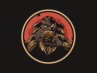 Logan Cappuccino mascot logo